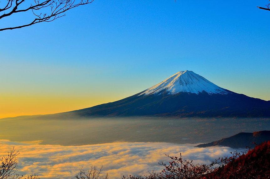 富士山の日の出