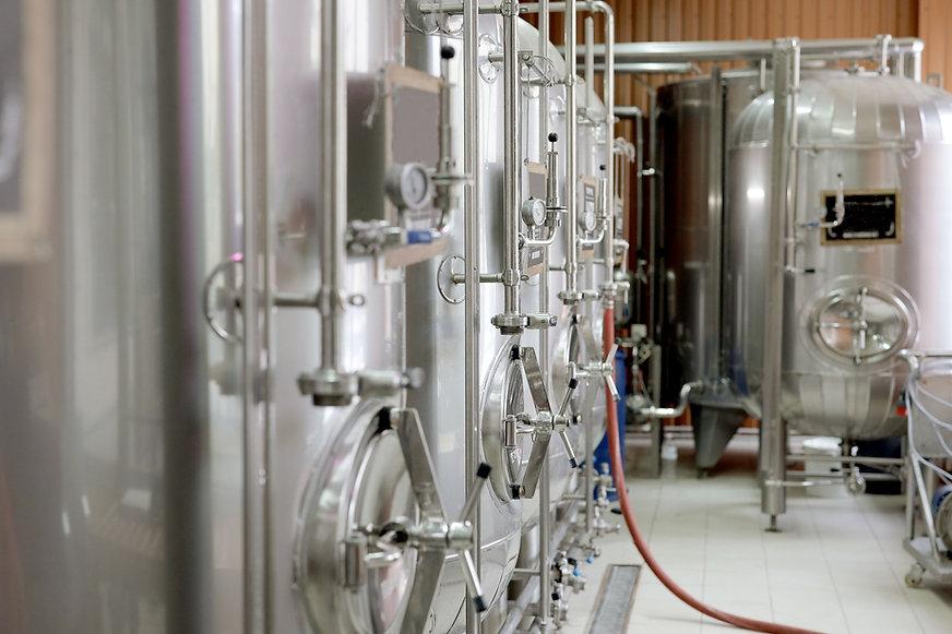 Moderne bierbrouwerij