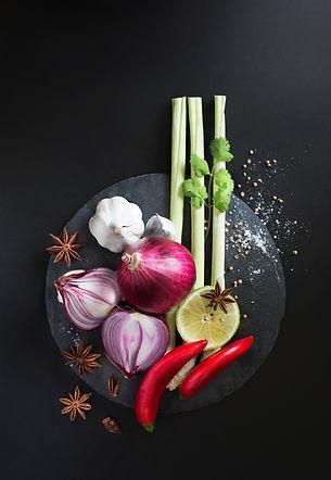 Cocinando ingredientes