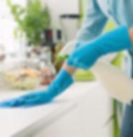 Nettoyage du comptoir
