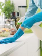 Limpieza del mostrador