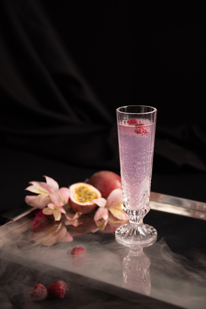 Passionfruit and Raspberry Cocktail