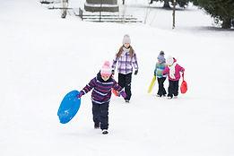 Children in Snow