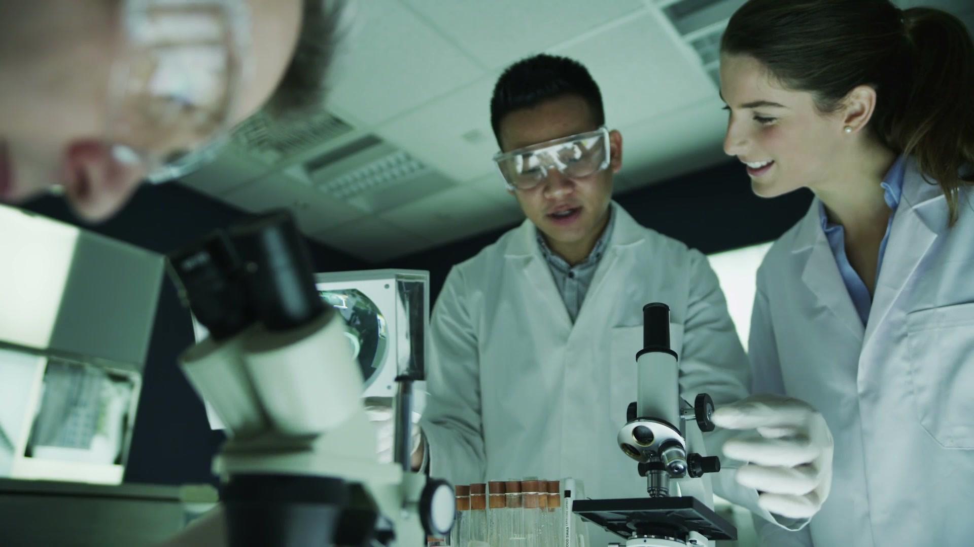 Wissenschaftler Analysieren von Proben