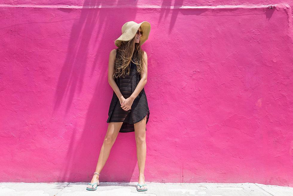Photoshoot mur rose