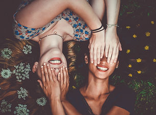 Friends Covering Eyes