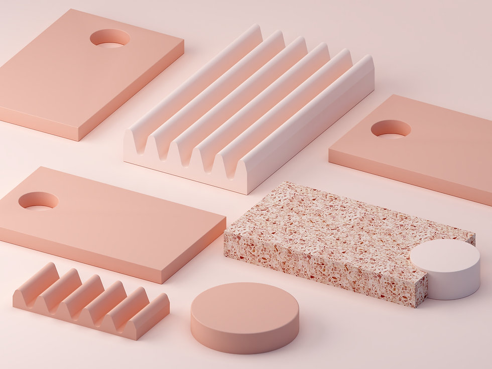 Rosa Objekte