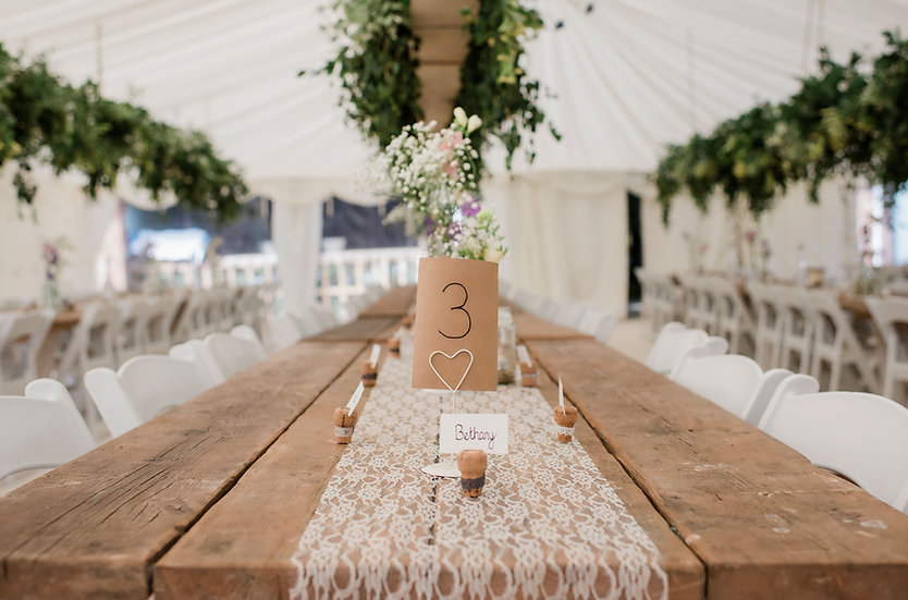 Table & Chair Wedding Reception Package