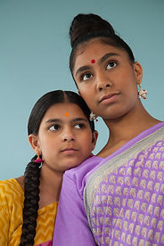 Sisters in Traditional Clothing