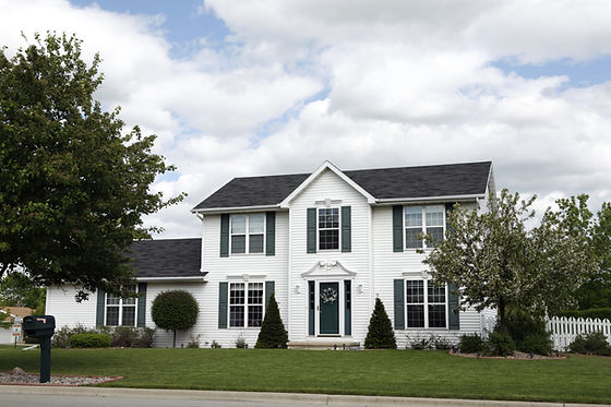 White Two-story Home