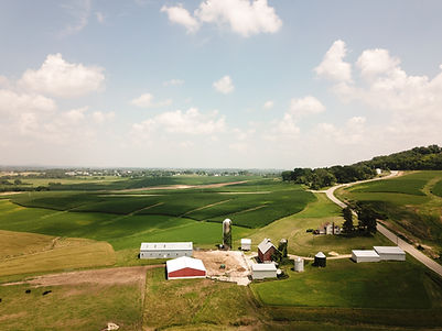Аэрофотоснимок фермы