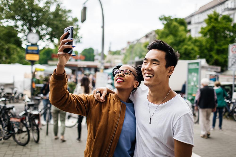 Millennials taking selfies wrong