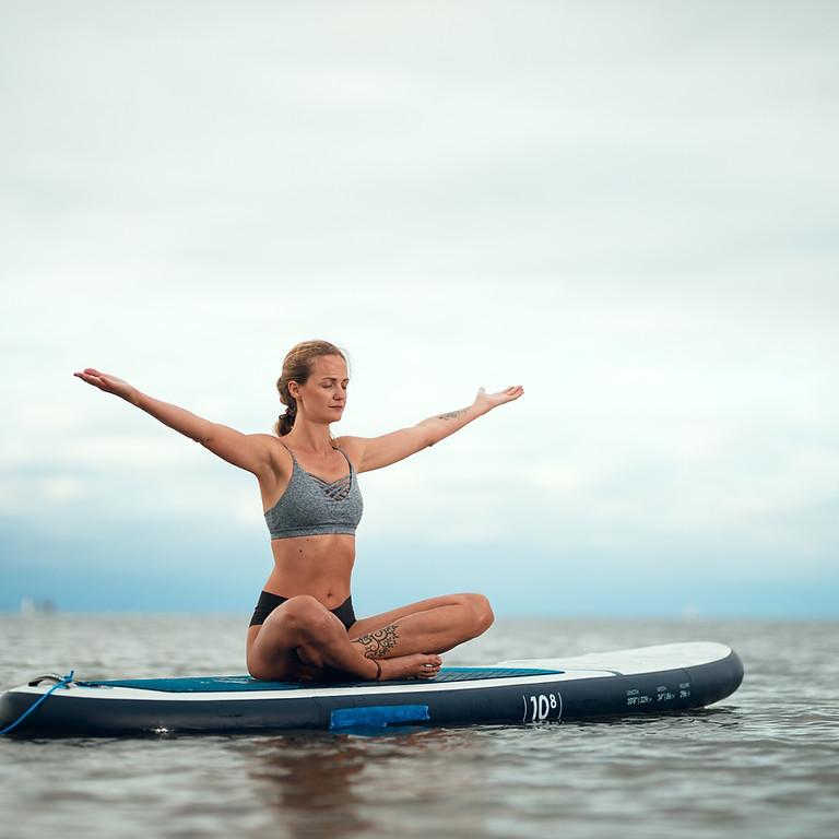 Sunset Sup Yoga at Mooney's Bay!