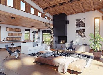 Modernes Chalet Interieur