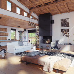 Interior Chalet in stile moderno