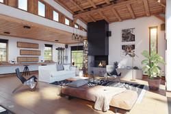 Modern Chalet Interior