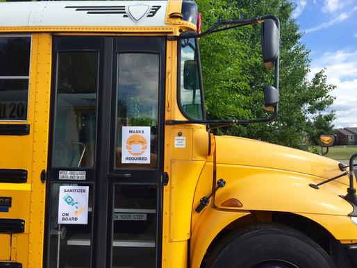School bus hits car