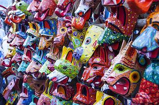 Masques colorés