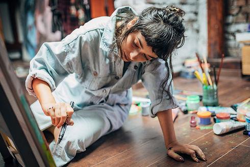 Painter in Studio