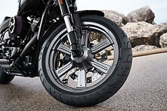 Clean and polished motorcycle wheel