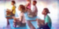 School Kids Meditating