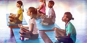 Kind Karma Yoga Children Meditating.