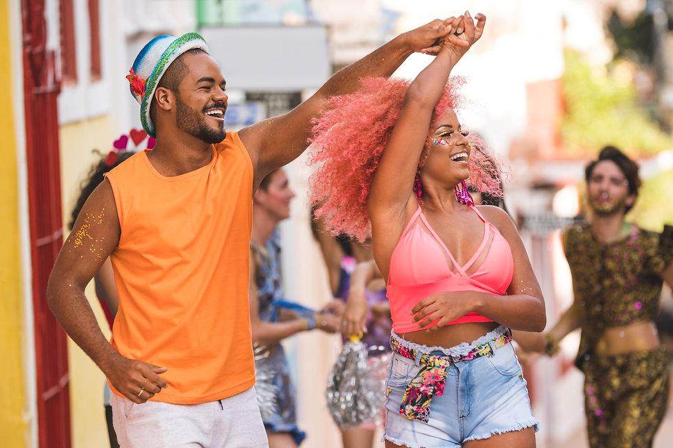 Bailando durante el carnaval