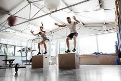 Saltando sobre caja