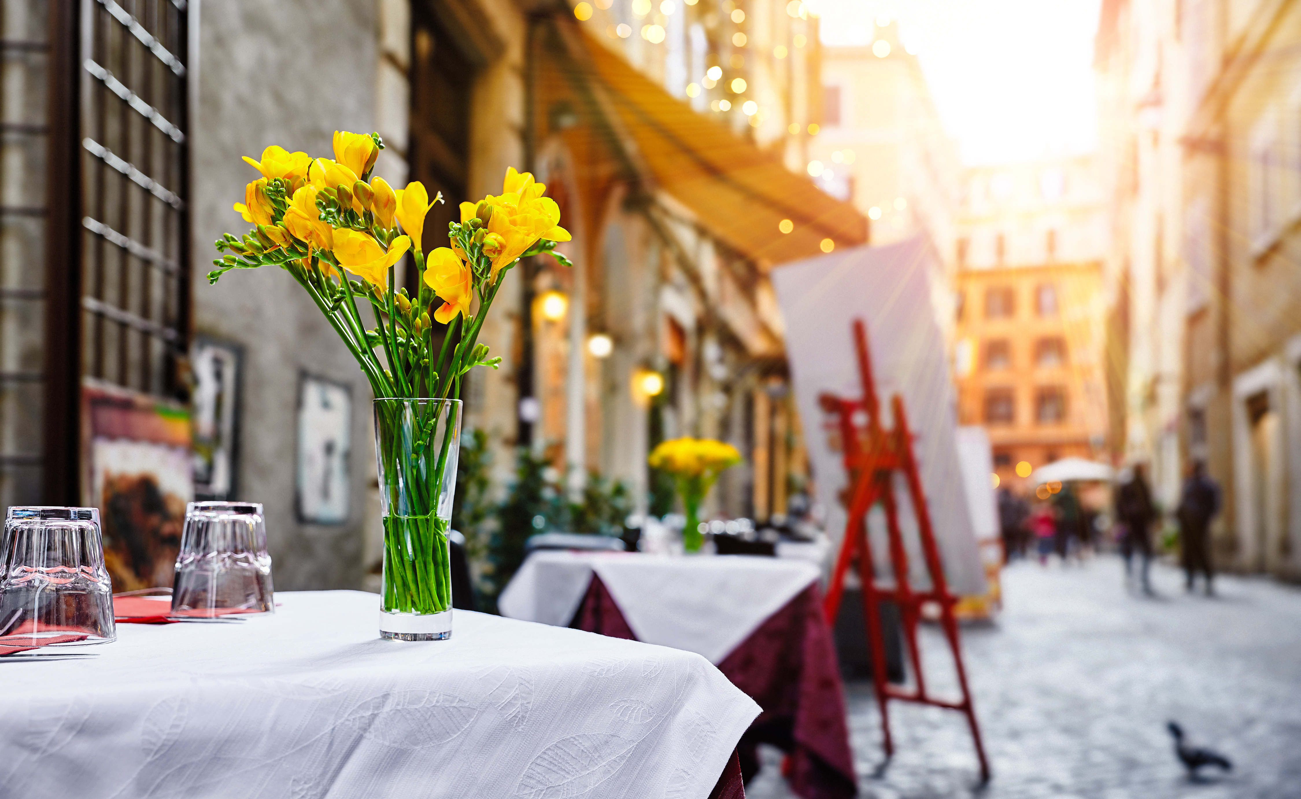 花のテーブル