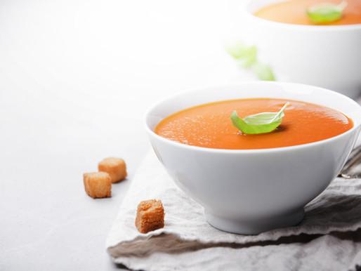 Vegan Tomato and Basil Soup Recipe