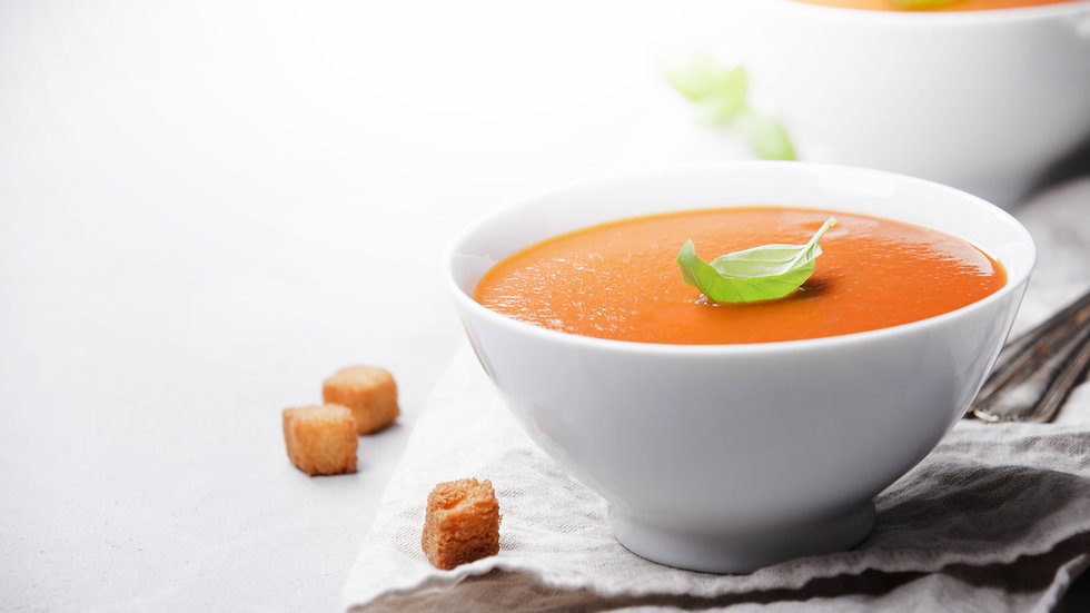 Honey, Tomato and Basil Soup