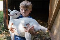Boy Carrying Goat