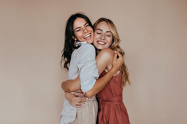 Friends Hugging