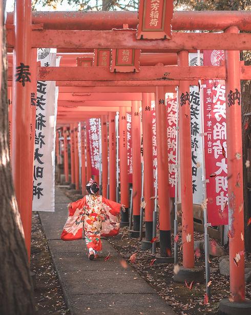 Fille avec Kimono