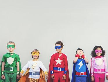 Super-herói crianças
