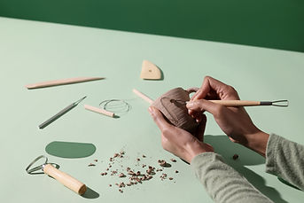 Handgemaakte keramische beker