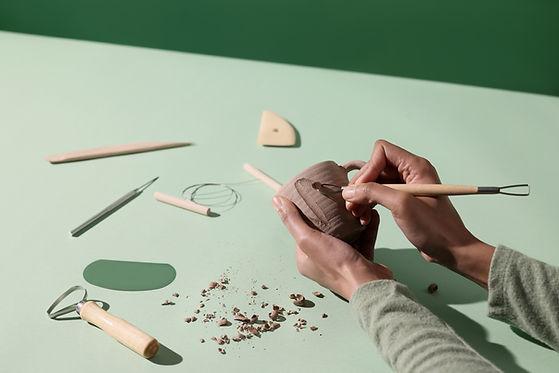 Tasse en céramique faite à la main
