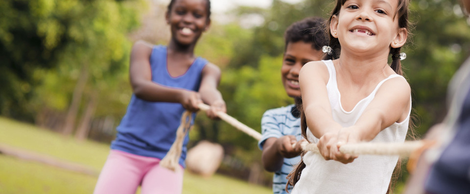 Children Playing Tug of War