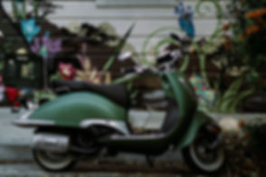 Green Motor Scooter