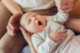 Slaperige baby