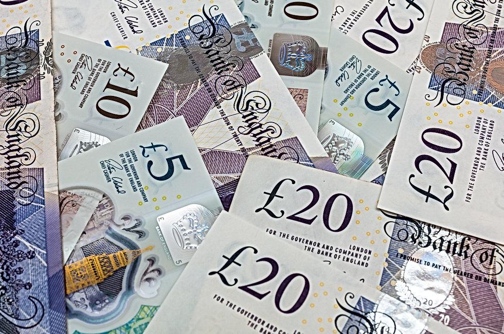 Банкноты британского фунта стерлингов