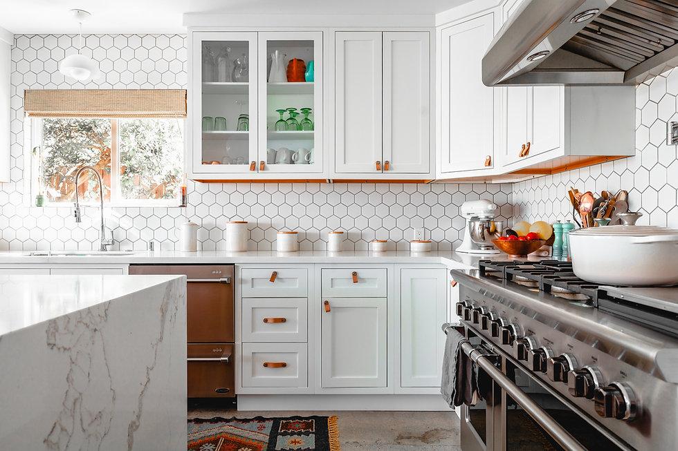 Gabinetes de cocina blancos