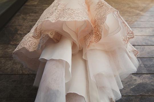 Parte inferior de um vestido