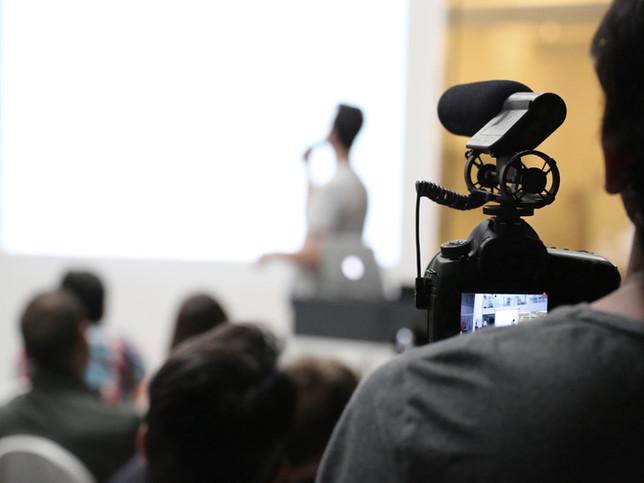 Filmando una presentación