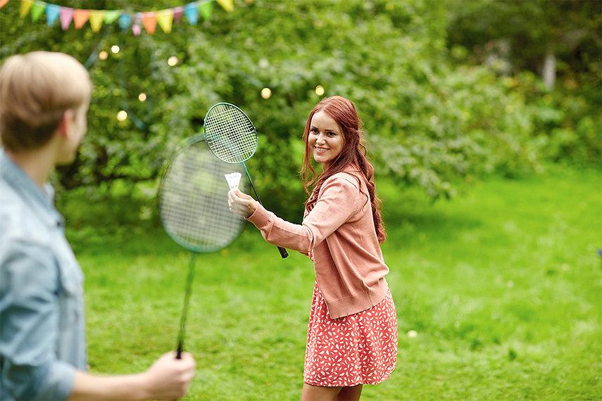 Outdoors Badminton Match