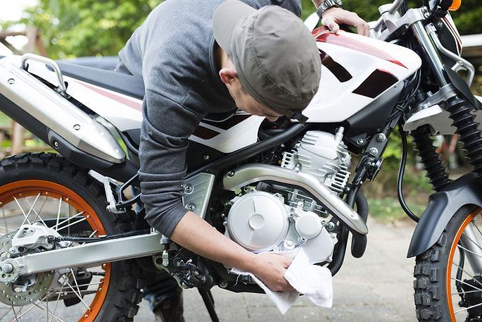 バイクの清掃