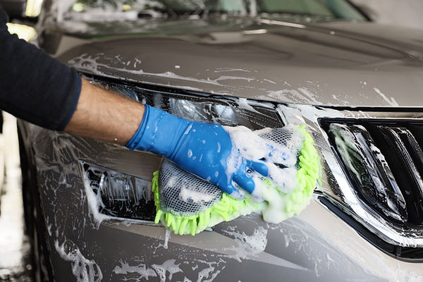 Cleaning Car with Soap