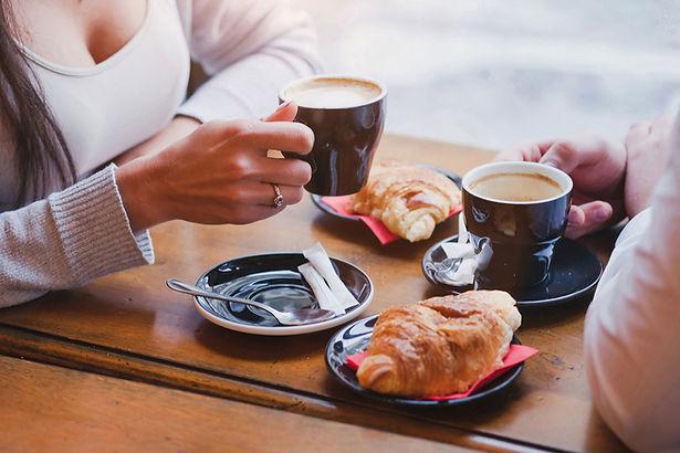Café et croissants