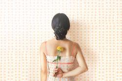 点線のドレスの壁紙