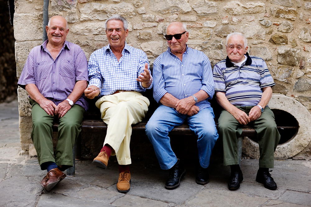 Old friends may be the kind of support the dying needs to have around when they are facing the inevitable.